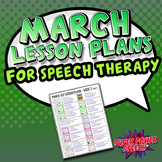 March Speech Lesson Plans (FREE)