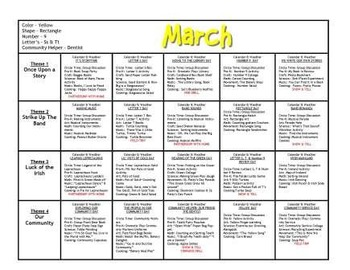 March Lesson Plans Series 1 [Four 5-day Units]