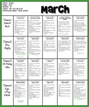 March Lesson Plans Series 2 [Four 5-day Units]