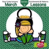 March Lessons Preschool Pre-K Kindergarten Curriculum BUNDLE S2