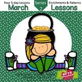 March Lessons Preschool Pre-K Kindergarten Curriculum BUNDLE S2
