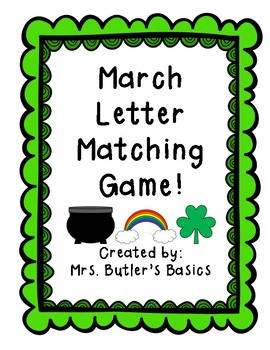 March Letter Matching Game- St. Patrick's Day