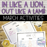 March Lion & Lamb Activities | Dollar Deal