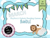 March Lion Lamb BUNDLE ~ 28 activities & games for rhythm and melody