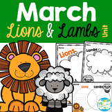 March Lion and Lamb Writing - Similes, Comparisons, Attributes