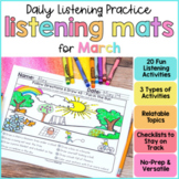 Listening & Following Directions Activities for March