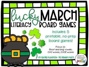 March Literacy Board Games