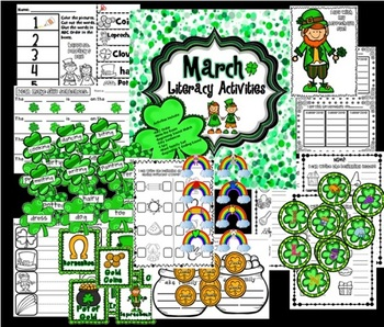 March Literacy Center Activities and Printables