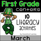 March Literacy Centers - First Grade
