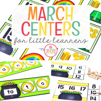 MARCH LITERACY CENTERS AND MATH CENTERS
