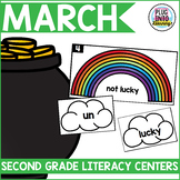 March Literacy Centers for Second Grade
