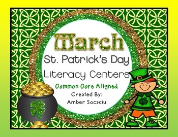 March Literacy Centers for St. Patrick's Day