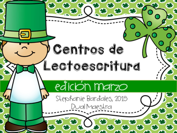 March Literacy Centers in Spanish