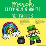 March Literacy & Math Activities