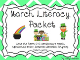March Literacy Packet