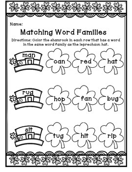 March Literacy Packet-NO PREP