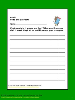 March Literacy Packet for Reading and Writing Fun Activities
