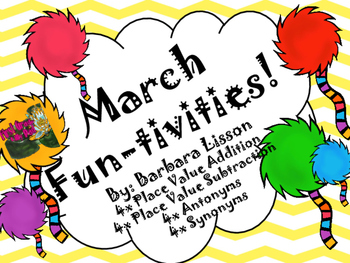 March (Literacy Themed) NO PREP Funtivities: Math and Literacy Printables