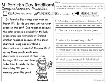 March Literacy and Math Activities {St. Patrick's Day Themed}