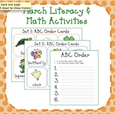 March Literacy and Math Activities for Kindergarten and Fi