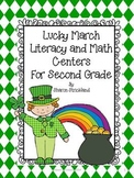 March Literacy and Math Centers-Second Grade Common Core Aligned