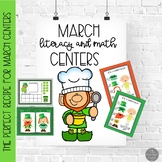 March Literacy and Math Centers for Pre-K and Kinders