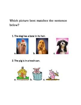 Luck of the Irish Picture Match Kindergarten Literacy Center Week 1 & 2