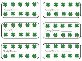 """March """"Lucky Behavior"""" Punch Cards"""