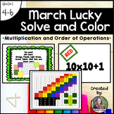 March Lucky Solve and Color (Multiplication and Order of O