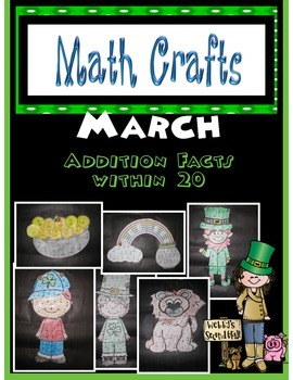 March MATH CRAFTS Addition Facts within 20