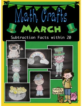March MATH CRAFTS Subtraction Facts within 20