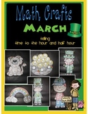 March MATH CRAFTS Telling Time to the Hour and Half Hour