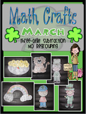 March MATH CRAFTS Three-Digit Subtraction without Regrouping