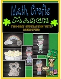 March MATH CRAFTS Two-Digit Subtraction with Regrouping