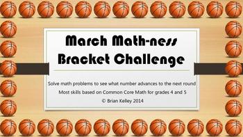 March MATHness Bracket Challenge Grades 4-5+