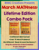 March MATHness-Combo Pack-Lifetime Edition: March Madness Engaging Math Skills