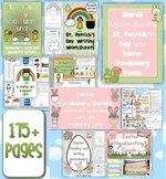 March MEGA BUNDLE St. Patrick's Day and Easter Vocabulary Packs 175+ pgs