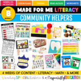 February Made For Me Literacy (Community Helpers Coming Ja