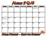 March Madness 2018 Editable Calendar