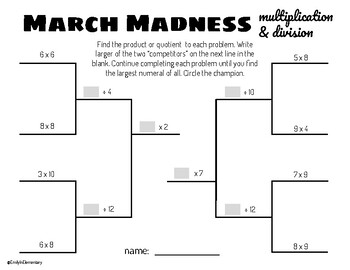 March Madness Base-Ten Operations