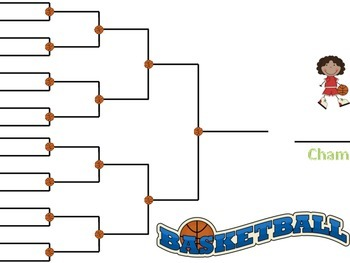 March Madness Basketball Bracket Game- For Articulation or