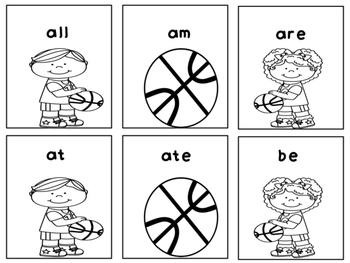 March Madness Basketball Primer Dolch Sight Words Game