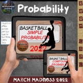 March Madness Basketball Simple & Compound Probability Math Boom Cards