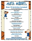 March Madness Basketball Themed Activity/Center Set: Over 15  Activities!