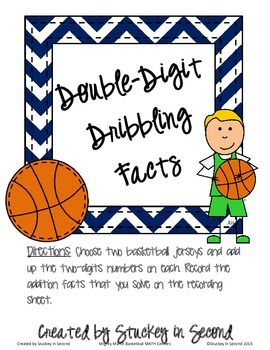 Mighty March Basketball Themed MATH Centers (6 centers!)