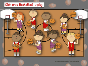 March Madness--Basketball Themed Melodic Reading Game {pentatonic}