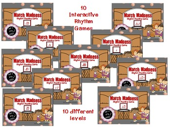 March Madness--Basketball Themed Rhythm Reading 10 Game BUNDLE