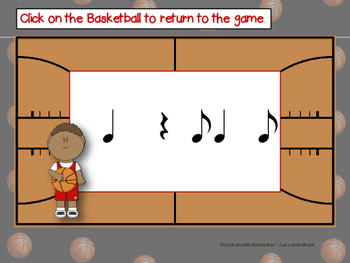 March Madness--Basketball Themed Rhythm Reading Game {synco-pa}