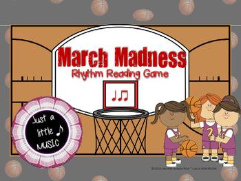 March Madness--Basketball Themed Rhythm Reading Game {ta titi}