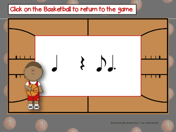 March Madness--Basketball Themed Rhythm Reading Game {ti tom}